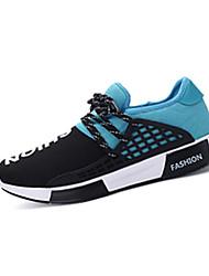 Femme-Décontracté-Noir / Bleu / Noir et rouge-Talon Plat-Confort / Bout Carré-Sneakers-Tulle
