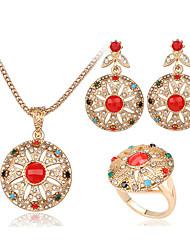 Schmuck Halsketten Ohrringe Ringe Schmuckset Modisch Alltag Normal Aleación 1 Set Damen Goldfarben Hochzeitsgeschenke