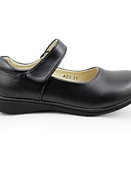 Girls' Flats Comfort PU Fall Casual Comfort Flat Heel Black Under 1in