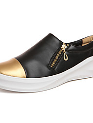 Men's Spring / Summer / Fall / Winter Round Toe Tulle / Fabric Athletic Flat Heel Walking Gold/Sliver