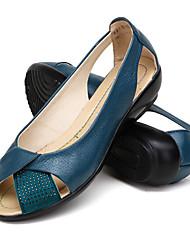 Damen-Sandalen-Outddor Sportlich-Wildleder-Niedriger AbsatzSchwarz Blau Weiß Orange