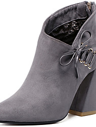 Women's Boots Spring / Fall / Winter Combat Boots Fur Office & Career / Casual Chunky Heel Black / Gray Snow Boots