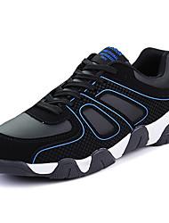 Femme-Sport-Bleu / Noir et rouge / Noir et blanc-Talon Plat-Confort-Sneakers-Polyuréthane