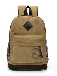 Unisex Backpack Canvas All Seasons Formal Sports Outdoor Office & Career Shopping Bucket Zipper Blue Military Green Coffee Earth Yellow