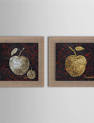 Peint à la main Abstrait / Fantaisie / Nourriture / A fleurs/Botanique Peintures à l'huile,Modern / Réalisme / Style européenDeux