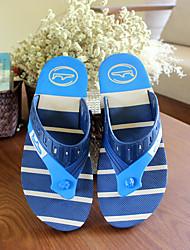 Men's Slippers & Flip-Flops Summer Slingback Rubber Casual Flat Heel Others Blue / Beige Others