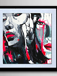 Modern Wall Art Oil Painting On Canvas Portrait Home Decoration  Abstract Painting With Frame