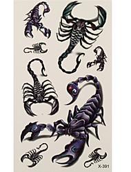 1 Временные тату Тату с животными scorpion Вспышка татуировки Временные татуировки