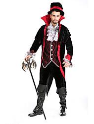 Disfraces de Cosplay / Ropa de Fiesta Vampiros Festival/Celebración Traje de Halloween Negro Un ColorChaqueta / Top / Pantalones / Más