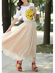 Damen Röcke Mittlere Hüfthöhe Micro-elastisch Sommer