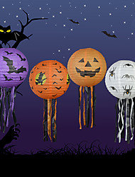 4PCS Halloween Pumpkin Paper Lantern Halloween Supplies Decorative Props Haunted House Scene Pumpkins Paper Lanterns