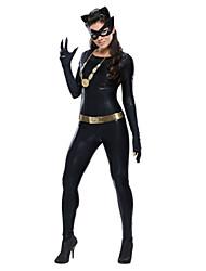 Costumes More Costumes Halloween Black Solid Terylene Leotard/Onesie / More Accessories