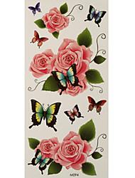 1 Tattoo Aufkleber Tier Serie / Blumen Serie butterflies roses Flash-Tattoo Temporary Tattoos