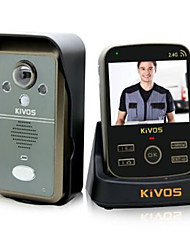 KiVOS KDB302A Wireless Doorbell Household Plug-In Electronic Induction Drag Two Doorbell Taking Photo within 300 Meters