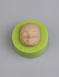 Baby face silicone mold fondant sugar paste 3d chocolate mould cake decorator
