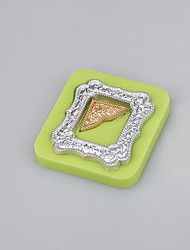 Mirror frames shaped fondant silicone mold soap candle moulds sugar craft cake decorating