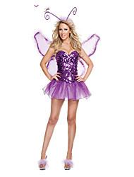 Disfraces Disfraces de las Series de Princesas Halloween / Oktoberfest Morado Claro Un Color Terileno Vestido / Más Accesorios