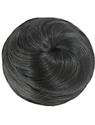 clipe brasileira na peruca de cabelo humano em clipes coque peruca cor preta
