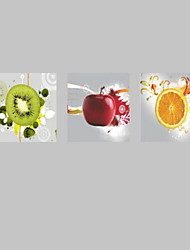 Prints Poster Kitchen Painting Modern Wall Fruits Print On Canvas  3pcs/set (Without Frame)