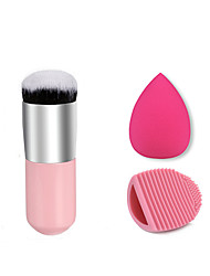 1pc Foundation Brush Synthetic Hair Professional And Cleaning Brush Egg And Small Size Makeup Sponge