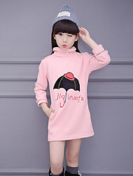 Girl's Casual/Daily Embroidered Tee / BlouseCotton Winter / Spring / Fall Black / Pink / Yellow / Gray