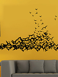 Bat Stickers DIY Halloween Party Bedroom Living Room Decorative Glass Window Stickers Removable Wall Stickers