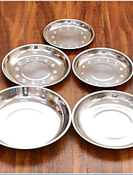Thick Stainless Steel Plate Disc Plate Dish Plate Creative Dishes Deepen