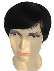 cabelo homem humano perucas full cabelo curto perucas peruca dos homens de cabelo