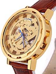 Da uomo Orologio scheletro / Orologio alla moda / Orologio da polso / orologio meccanico Carica automatica Orologi con incisioniVera