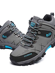 Men's Athletic Shoes Spring / Fall / Winter Work & Safety / Round Toe Leather Outdoor / Athletic Hiking Gray /Warm