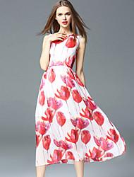 la fête des femmes frmz gaine millésime dressfloral col rond manches midi mi hauteur moyenne inélastique