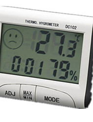 Dc102 Temperature And Humidity Electronic Clock Alarm Clock With Temperature Memory And Recording Time