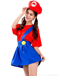Costumes More Costumes Halloween Red / Blue Solid Terylene Dress / More Accessories