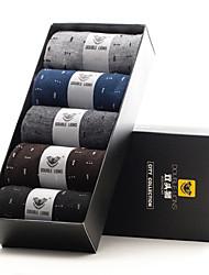 DOUBLE LIONS Men's Cotton Socks 5/box-MM0026