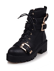 Women's Boots Fall / Winter Heels / Riding Boots / Fashion Boots / Bootie / Comfort / Combat Boots / Round ToePatent
