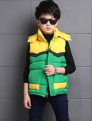 Boy's Casual/Daily Patchwork VestPolyester Winter Black / Green / Red / Yellow