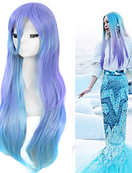 Lolita Fashion Megurine Luka Cosplay Wigs Water Blue Ombre Wigs Charming Long Straight Beauty Hairstyle