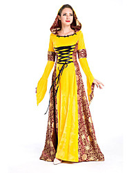 Costumes More Costumes Halloween Yellow Patchwork Terylene Dress / More Accessories