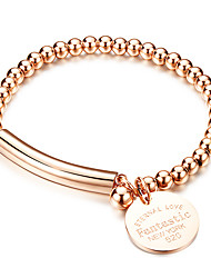 Women's Fashion Jewelry Forever Love Pendant Titanium Steel Rose Gold Silver Plated Bracelet Casual/Daily Gift