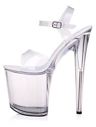 Women's Sandals Summer Platform PU Casual Stiletto Heel Platform Buckle White Other