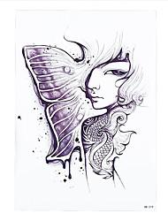 1pc Half Butterfly Cool Melancholy Women Men Girl Decal Temporary Tattoo Body Art Sticker HB-219