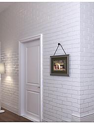 Couleur Pleine Damas Décoration artistique Rayure Fond d'écran pour la maison Contemporain Revêtement , Tissu Non-Tissé Matérieladhésif