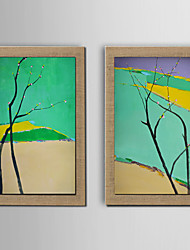 2Panel Modern Wall Art Abstract Oil Painting  Hand Painted On Natural Linen With Stretched Frame