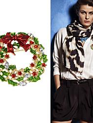 novos do presente do Natal broche de flor colorido Rhinestone