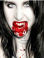 Adereços Halloween dentes zumbis - suportes do filme dentes fantasmas dentes de vampiro - casa assombrada propriedade quatro dentes