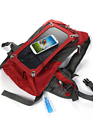 Solar Outdoor Riding Package Rucksack Hydration Pack & Water Bladder 42L Outdoor Red Canvas Solar Panel Iphone 7