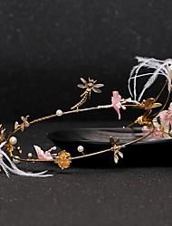 Wedding Veil One-tier Headpieces with Veil Cut Edge Gold