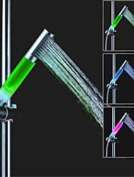 sds-a13 LED Pomme de douche contrôle de la température de couleur de douche à trois températures (abs de galvanoplastie)