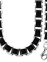Stainless Steel Necklace Bracelet Set For Men Jewelry Fashion 7MM Link Chain Jewelry Sets Party Wholesale NB60001