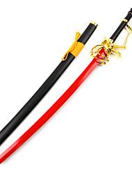 Arma / Espada Inspirado por Serafim do Fim Fantasias Anime Acessórios de Cosplay Espada Vermelho Madeira Masculino